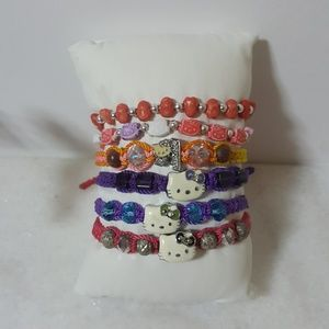 6 Hello Kitty Bracelets